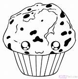 Muffin Blueberry Draw Drawing Step Coloring Pages Getdrawings Dawn Hellokids sketch template