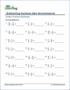 mixed fraction worksheet grade 4 fractions worksheets free printable k5 learning