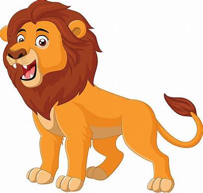Lion Clipart Clip Cartoon Roaring Leeuw Lew