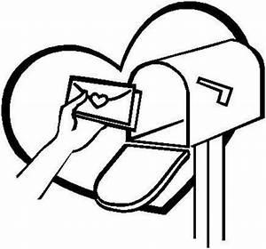 Valentine Mailbox Clip Art Black And WhiteMailbox Clipart ...