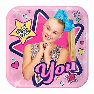JoJo Siwa Small Plates x 8 Kids Themed Party Supplies
