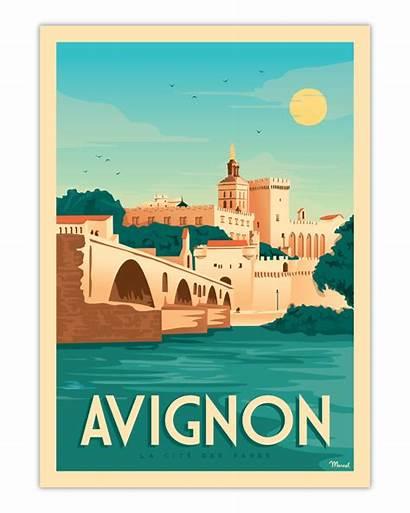 Avignon Poster Marcel Papes Des Posters Cite