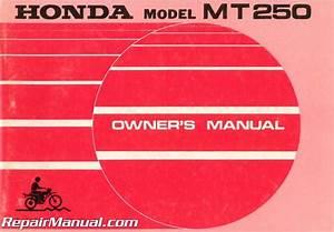 1973 Honda Mt250 Motorcycle Owners Manual