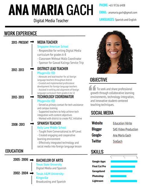 visual resumes visual resume word template