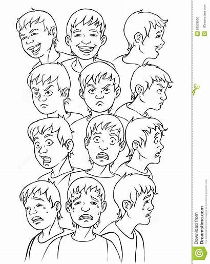 Colorir Coloring Faces Face Het Expressions Expressoes