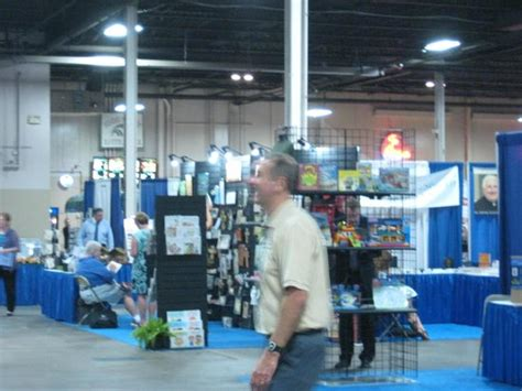 garden state convention center on the floor at the catholic marketing association