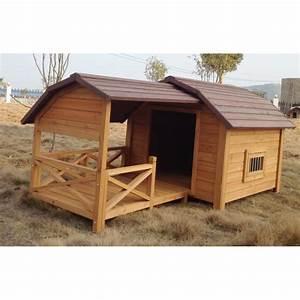 Niche Pour Chien Avec Terrasse : niche pour chien cheyenne avec terrasse achat vente ~ Dailycaller-alerts.com Idées de Décoration