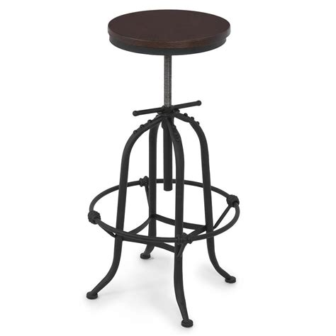 vintage bar stool adjustable seat height counter top chair