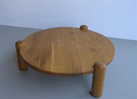 Never miss new arrivals that match exactly what you're looking for! Extra Large Oak Round Coffee Table in Style of Charlotte Perriand, France, 1960s at 1stdibs