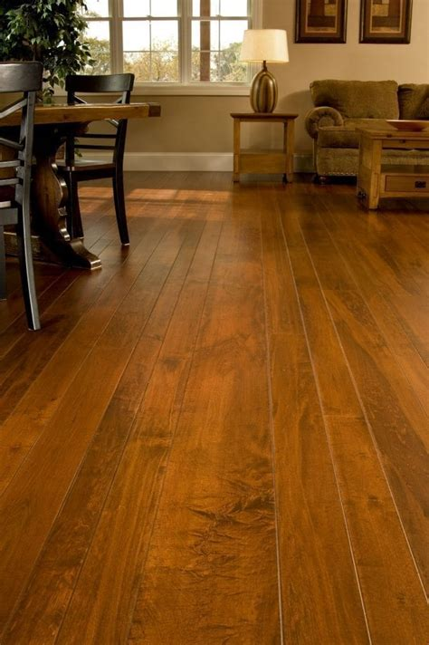 brown maple hardwood flooring   living room
