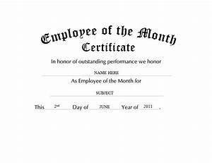 official employee of the month certificate pictures to pin With employee of the quarter certificate template