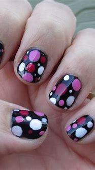 Pink Polka Dot Nails. Watch the tutorial on my YouTube ...