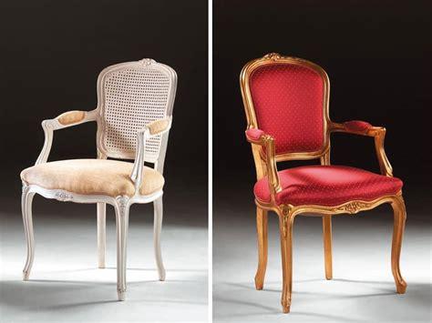 Sedia Capotavola, In Stile Classico, Braccioli Imbottiti