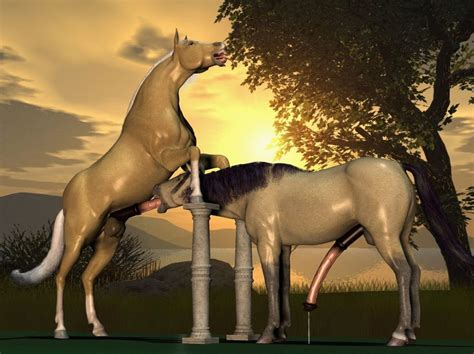 Rule 34 3d Couple Equine Erection Fellatio Gay Hooves