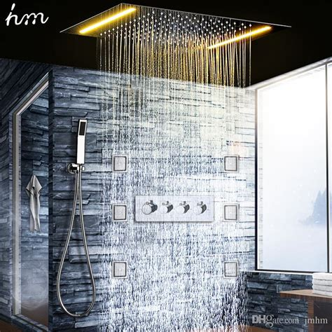 cold water faucet 2018 luxury shower system ceiling led shower set bathroom