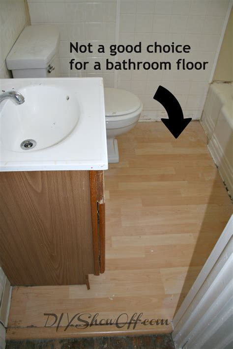 pergo flooring in bathroom how to tile a bathroom floordiy show off diy decorating and home improvement blog