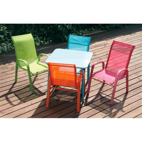 table et chaise bébé 18 mois fauteuil moderne coloré chaise enfant en métal et textilène mobilier de jardin achat