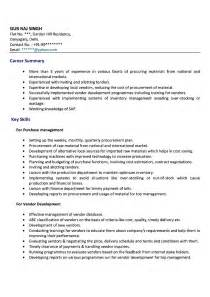 model resume for purchase manager doc 525679 procurement resume exles bizdoska