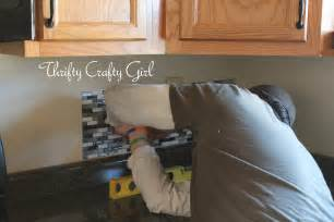 easy to install backsplashes for kitchens thrifty crafty easy kitchen backsplash with smart tiles