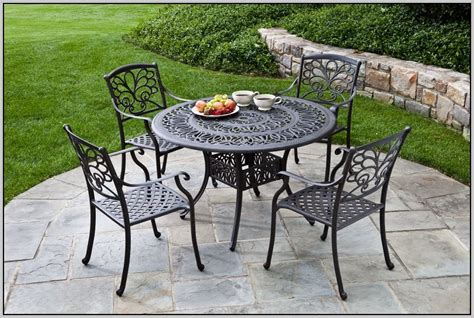 Wrought Iron Patio Table And 4 Chairs