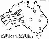 Australia Sketch Australian Flag Coloring Clipart Drawing Flags Colorings Webstockreview sketch template