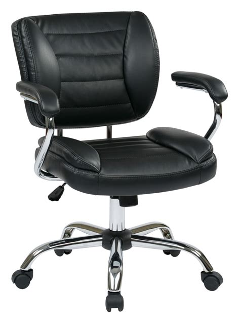 task chair faux leather black ergoback