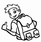 Coloring Backpack Cool Boy Tocolor Boys Soon Well Stuff Drawings sketch template