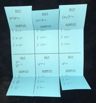 laws  exponents exponent rules foldable  lisa