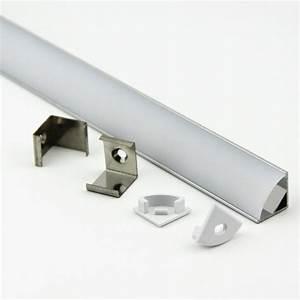 Led Strip Profil : aluminium led strip light profile extrusion 45 1 meter milky defused ~ Buech-reservation.com Haus und Dekorationen