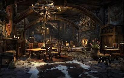 Fantasy Concept Interior Rooms Feast Scrolls Elder