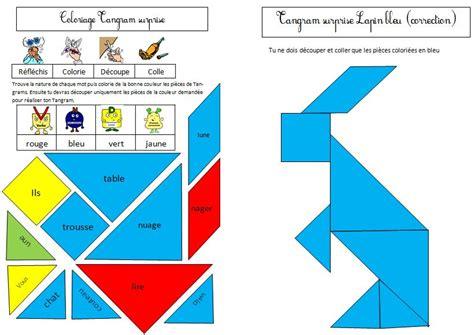 coloriage tangram le blog de monsieur mathieu