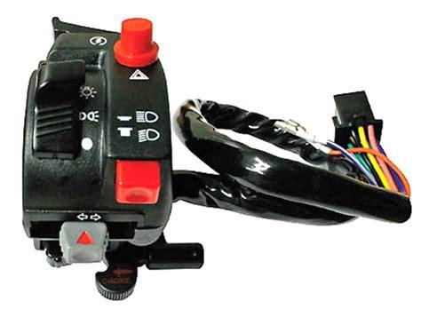 Honda Motorcycle Handlebar Wiring by Bikermart Left Switch Gear For Honda Atv