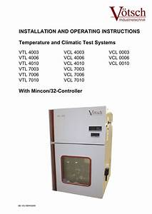 Installation And Operating Instructions Temperature