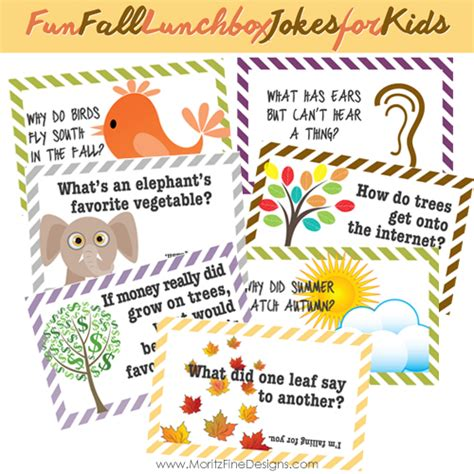 fall lunch box jokes  kids moritz fine designs