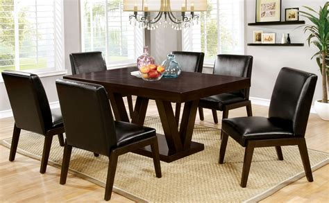 espresso dining room set belinda i espresso rectangular dining room set cm3357t