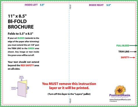2 Sided Brochure Templates by 2 Sided Brochure Templates Postcard Design And