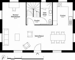 plan maison en l avec etage plan maison tage en l avec With awesome plan maison avec patio 6 plan maison 110 m2 etage