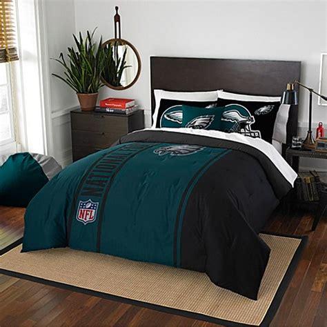 nfl philadelphia eagles embroidered comforter set bed