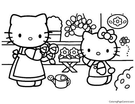 Hello Kitty Coloring Page 19 Coloring Page Central