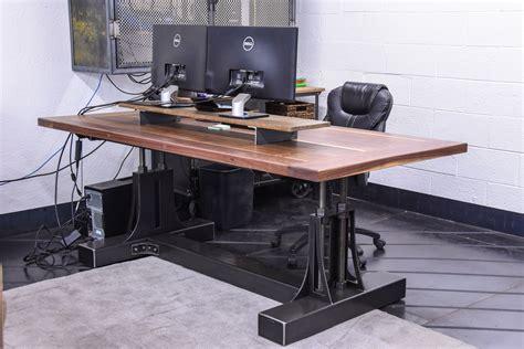 reclaimed dining table post industrial desk vintage industrial furniture