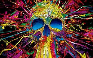 Download Skulls Colorful Wallpaper 1920x1200 | Wallpoper ...
