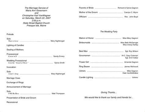 the best free church templates for 11 free printable church program templatesagenda template