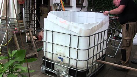 kleinen teichfilter selber bauen pool aus ibc tank container selber bauen so einfach geht s badezuber selber bauen