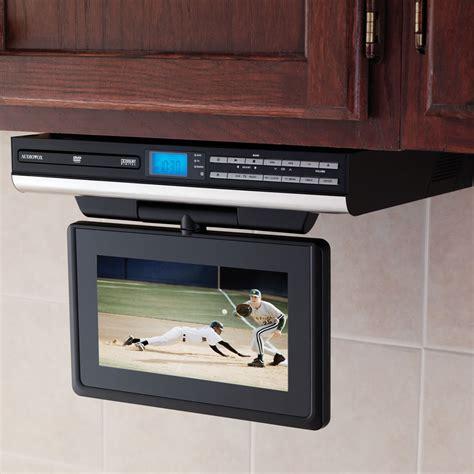 The Under Cabinet Tv With Dvd Player  Hammacher Schlemmer
