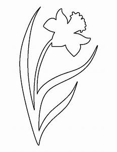 daffodil pattern use the printable outline for crafts With template of a daffodil