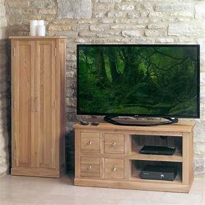 Mobel Solid Oak Furniture LCD Plasma TV Stand COR09A