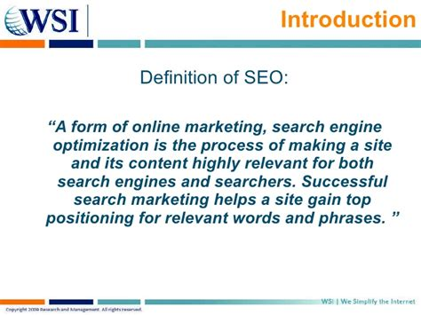Define Search Engine Optimisation - search engine optimization seo