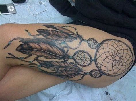 traumfänger oberschenkel dreamcatcher ttttatt tattoos traumf 228 nger tattoos
