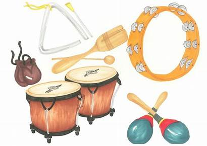 Instruments Musical Clip Instrument Clipart Percussion Spanish