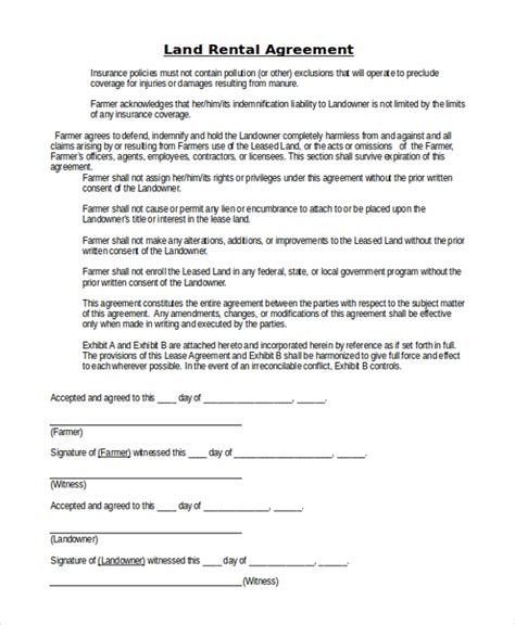 15 Room Lease Agreement Templates Sles Exles Land Lease Agreement Template Free 28 Images 9 Ground
